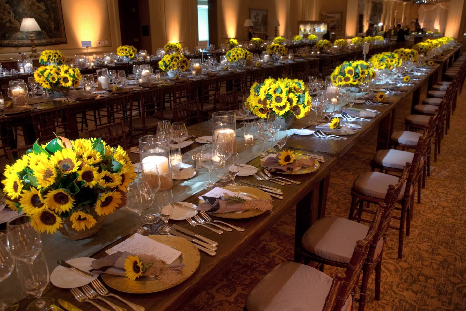 nisies-enchanted-florist-orange-county-Sunflowers-Cosentino-Rehearsal-Dinner-Pelican-Hill-Resort-event-5
