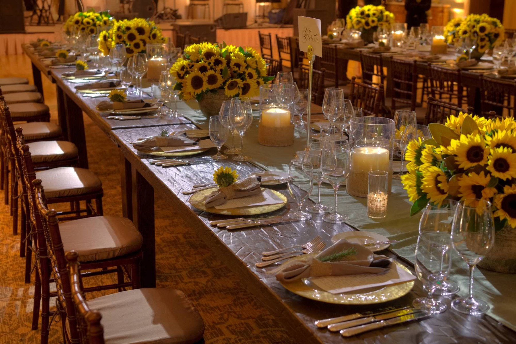 nisies-enchanted-florist-orange-county-Sunflowers-Cosentino-Rehearsal-Dinner-Pelican-Hill-Resort-event-6
