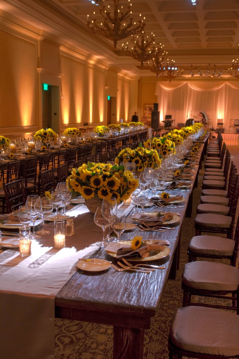 nisies-enchanted-florist-orange-county-Sunflowers-Cosentino-Rehearsal-Dinner-Pelican-Hill-Resort-event-8