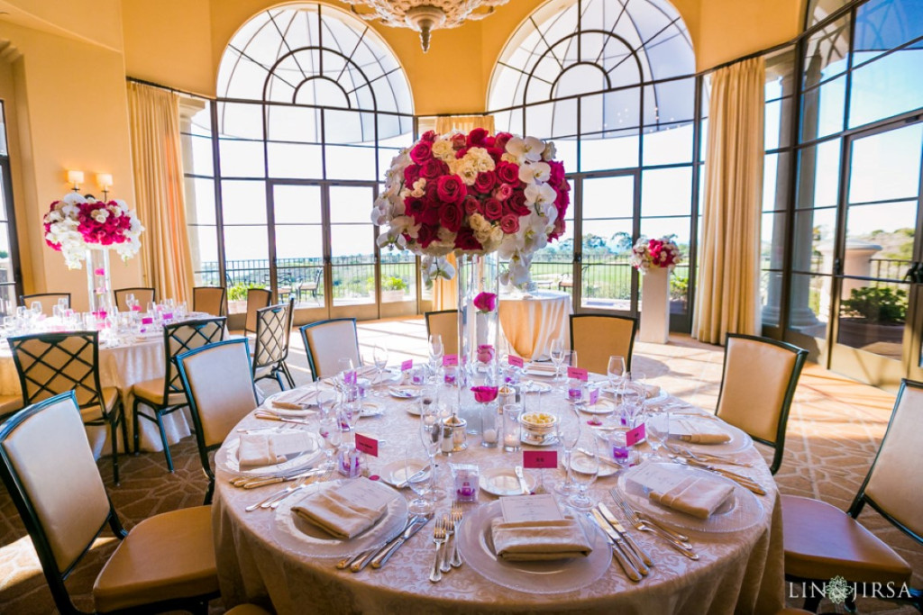 Nisies Enchanted Florist Hot Pink And White Pelican Hill Newport Beach Wedding 8